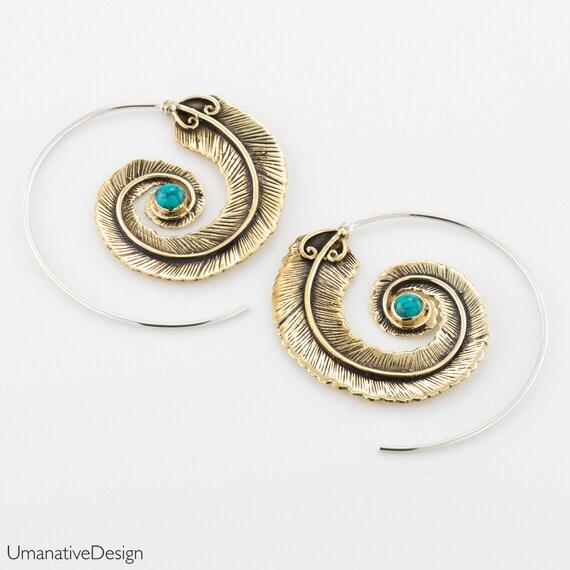 Feather Boho earrings. bohemian jewelry. hippie earrings. gypsy jewelry. statement earrings. silver feather earrings. large earrings. tribal