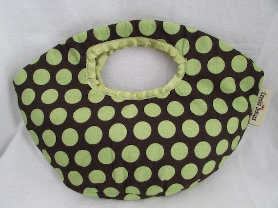 Cotton Oval Clutch