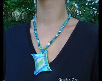 Art Nouveau Inspired Pendant  Necklace