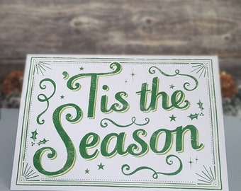 20% OFF Tis the Season Christmas Card