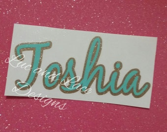 DOUBLE layer Name Car Decal Vinyl