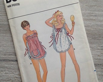 1970s Misses' Nightgown and Panties (size petite)