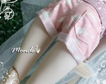 BJD SD DD 1/3 Pink White Rabbit Shorts - ONB130856SIPIWH