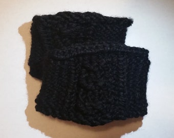Black Boot Cuffs
