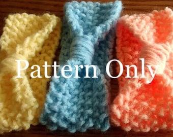 Baby Headband Pattern, Knit Baby Pattern