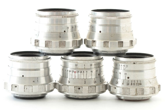 INDUSTAR-26m M39 I-26m 2.8/52mm Soviet Rangefinder Lens / Set - 5 pcs.