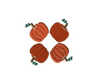 Monogram Frame - Pumpkin Embroidery Design File - Fall Embroidery File - Thanksgiving Design - Machine Embroidery - Digital Embroidery File