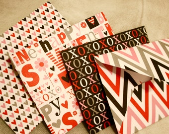 Handmade Envelopes - Valentine Prints