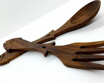 Kitchen Utensils, Kitchen Decor, Cooking Set, Kitchen Utensils Set, Wood Spoon, Wood Fork, Cooking Fork, Cooking Spoon, Vintage Kitchen Set