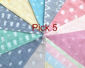 Pick 5 bandana bib, scarf bib, cotton bib, dribble bib, toddler bib, baby gift