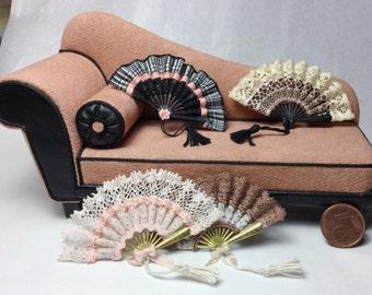 Stylish fan  1/12 scale, handmade, ooak
