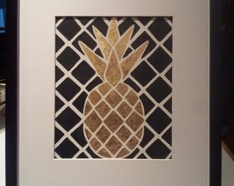 Original Gold Leaf Pineapple Wall Art