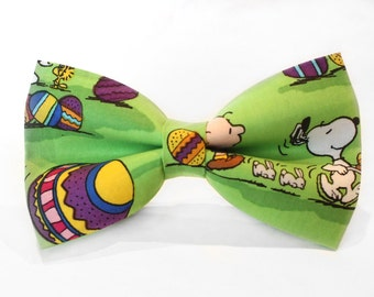 Easter Bow Tie, Peanuts Bow Tie, Spring Bowtie, Dog Bow Tie, Mens Bow Tie, Boys Bow Tie, Kids Bow Tie, Toddler Bow Tie, Bow Tie, For Him