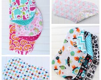 You Pick - Set of 12 Baby Burp Cloths