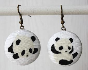 Little panda earrings