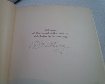 The Sound Wagon, T. S. Stribling, first edition, author signed, 1935 Only 250 copies of this book