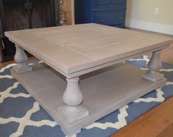 Square Balustrade Leg Coffee Table