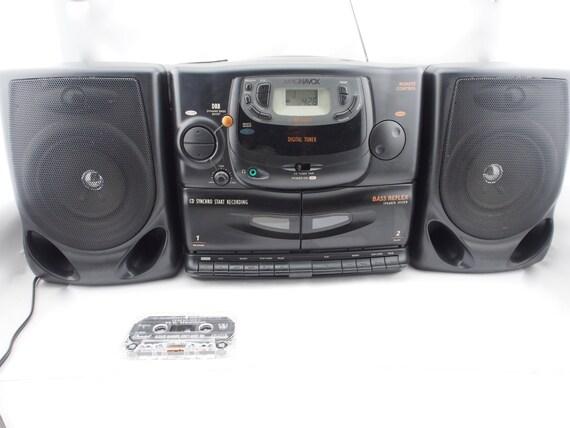 Vintage Magnavox Az 2615 Portable Stereo Boombox Cd Am Fm