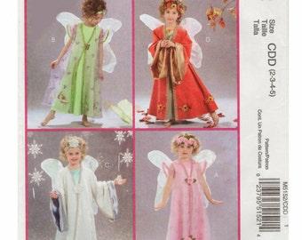 Girls Fairy Costume Pattern Girls Angel Costume McCALLS M5152 sz 2,3,4.5 Toddler Costume Girls Halloween Costume Fairy Pattern Angel Pattern