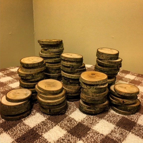 Wooden Rustic Wedding Decorations: 100 3 Wood Slices Rustic Wedding Decor Tree Slices