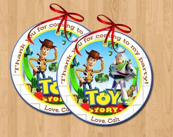 Toy Story Favor Tags, Bag Tags, Thank You Tags, Sticker. Digital (you print)