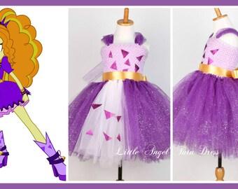 Adagio Dress, Equestria Girls Fancy Dress, Handmade Tutu Dress from My Little Pony, Lined Crochet Tutu Top, Halloween Fancy Dress Costume
