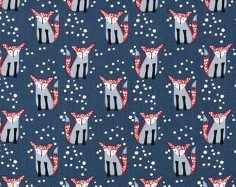 Dear Stella - Hilltop - Foxes - Navy - WG446 - Winter - Snow - Holiday - Christmas - Woodland