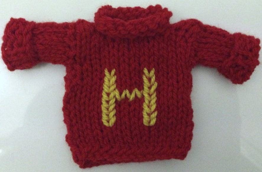 Knitting Pattern For Weasley Sweater : Harry Potter Weasley Sweater Mini Knit Gift by TabbyCatMakes