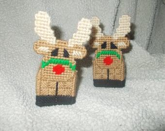 Set of 2 reindeer ornaments