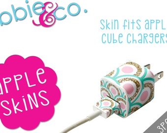 Pink/Mint Glitter Apple iPhone Charger Skin!!! SK01