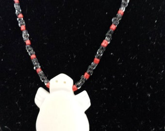 """18"""" beaded necklace with turtle pendant"""