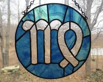 Zodiac Virgo Stained Glass Suncatcher