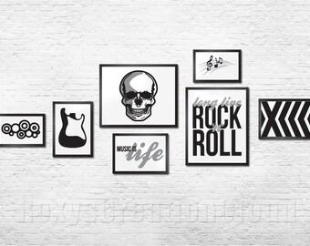 Rock n Roll Wall Gallery