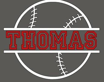 Baseball with Name