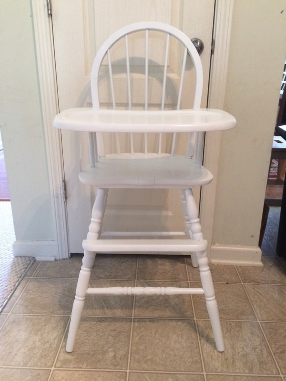 Wooden High Chair, Jenny Lind, Antique High Chair, Vintage High Chair ...