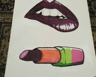 Lips/ Lipstick pop art