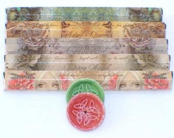 Elements Angels Incense ~Jessica Galbreth Line~ Gift Pack & Ceramic Holder ~ Total of 100 Incense Sticks!