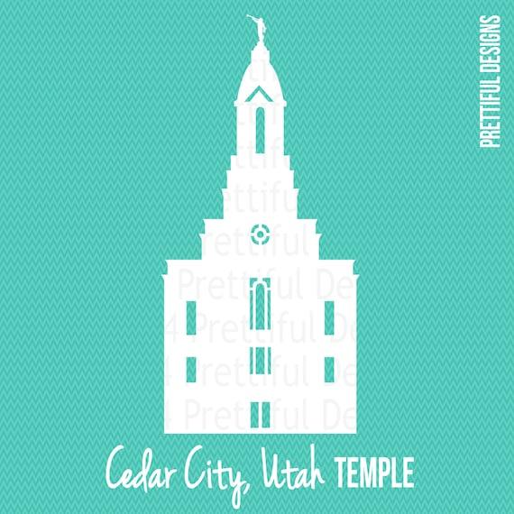 cedar city utah temple silhouette lds mormon clip art png eps