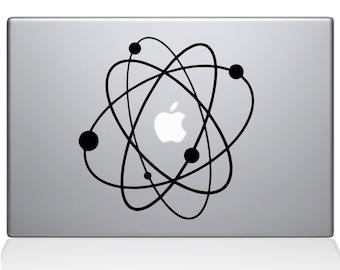 Atom apple macbook laptop decal sticker