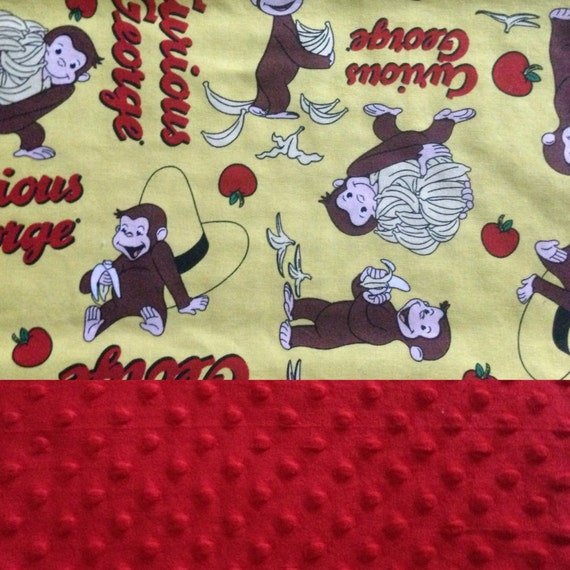 sale premade weighted lap pad blanket curious george 14x20. Black Bedroom Furniture Sets. Home Design Ideas