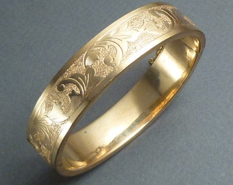 Antique small gold filled bangle bracelet