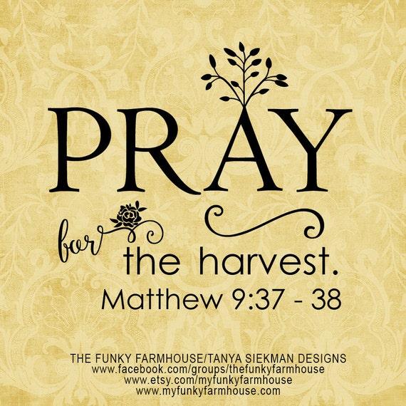"SVG & PNG  - ""Pray for the harvest"""