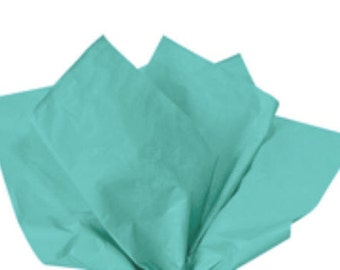 100 Sheets Caribbean Teal 15inch x 20inch Gift Wrap Tissue Paper