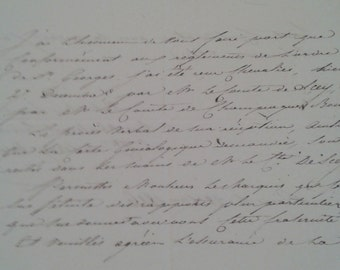 1800s French letter addressed to Marquis de Falletans Secretary of Order of St. Georges regarding Order of St. Georges