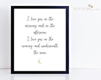 Art Print, I Love You Art Print, Wall Decor Print, Print for Home, Love Wall Decor, 8x10, 11x14