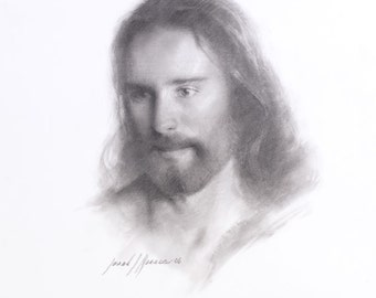 "Jesus Christ Art Print ""Sketch of Christ"" by Artist Jared Barnes"