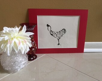 "Original Calligraphy ""Rooster"""