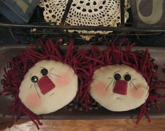 Raggedy Ann Bowl Filler -  Raggedy Ann Tucks - Raggedy Ann Faces - Prim Raggedy Ann - FAAP~HAFAIR~TEAMHAHA