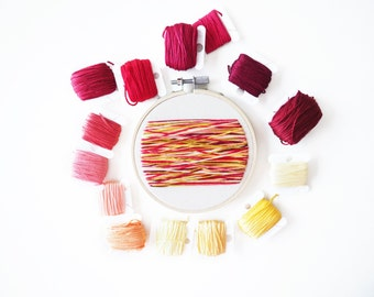 """Abstract Lines Embroidery 4"""" Hoop"""