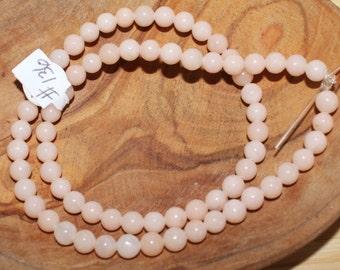 "16"" Strand of 6mm Smooth Round Pink Aventurine Beads #136"